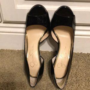 Jessica Simpson Black Peep Toe Heels